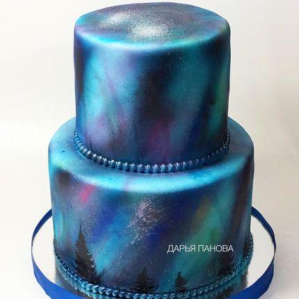 """Свадебный торт """"Северное сияние"""", цена за 1 кг"""