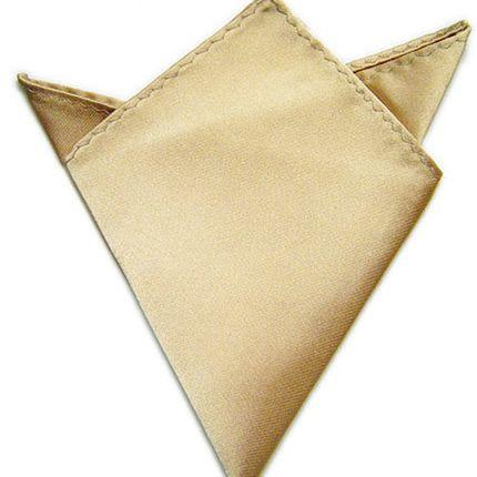 Нагрудный платок атласный терракотовый
