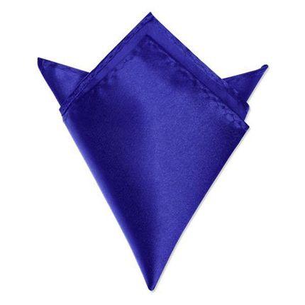 Нагрудный платок атласный синий