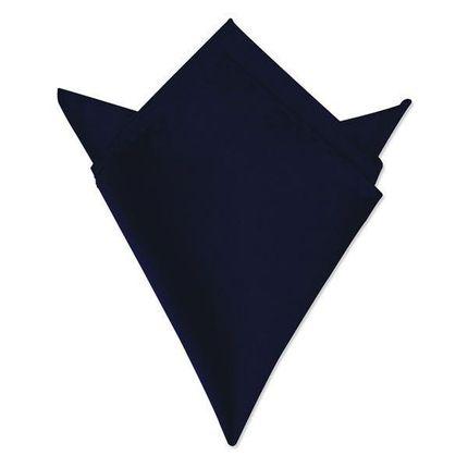 Нагрудный платок атласный глубокий темно-синий
