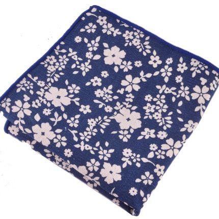 Нагрудный платок синий с цветами