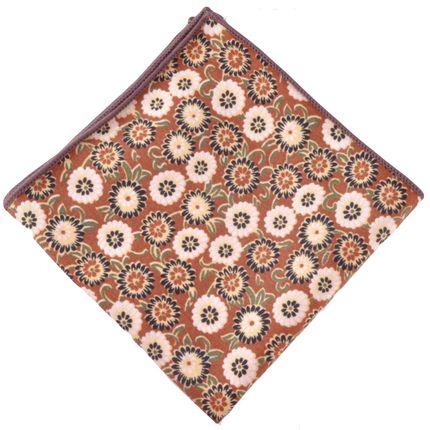 Нагрудный платок коричневый с цветами