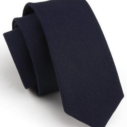 Галстук матовый однотонный темно-синий