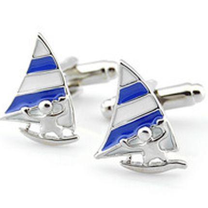 Запонки парусные яхты