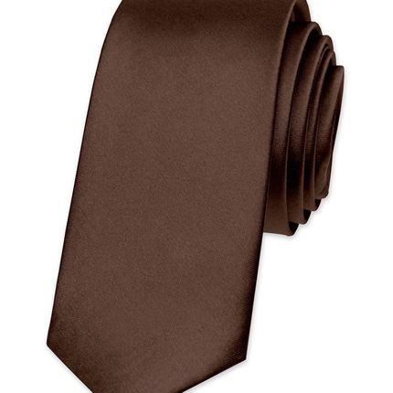 Галстук атласный шоколад