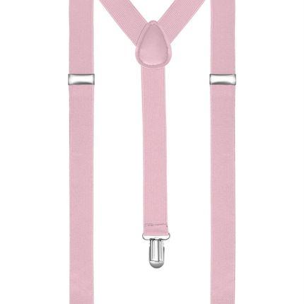 Подтяжки классические розовые