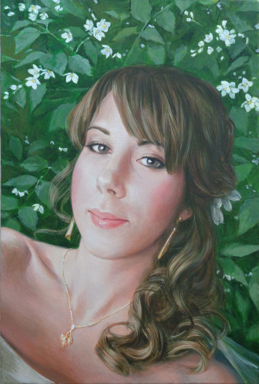 Живописный портрет акрилом