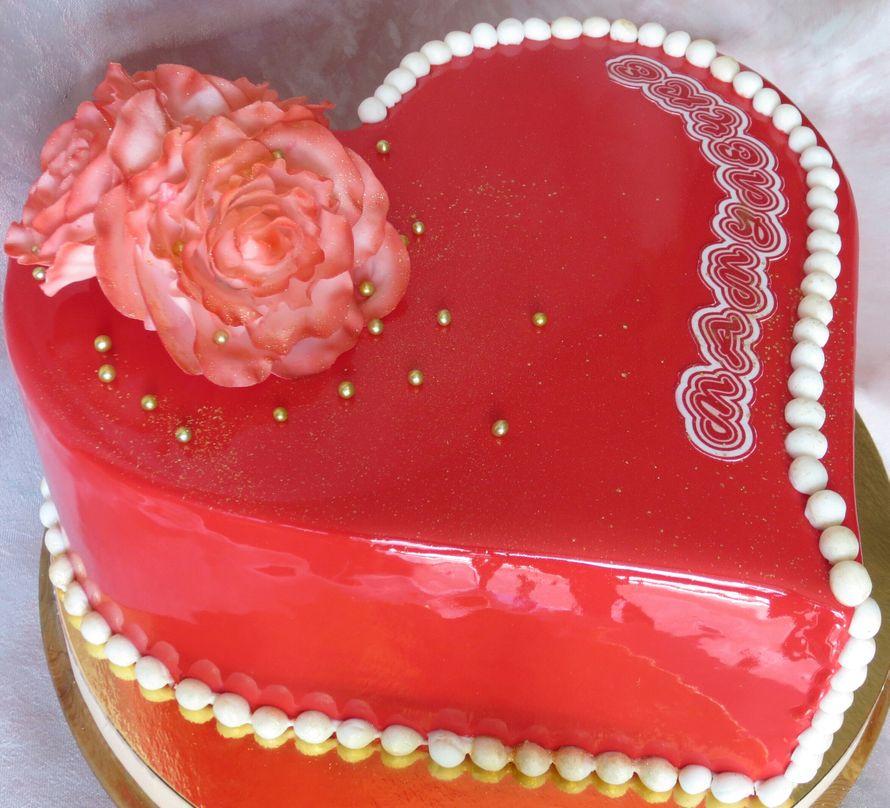 торт Сердце в зеркальной глазури - фото 15316698 Кондитер Ирина К.