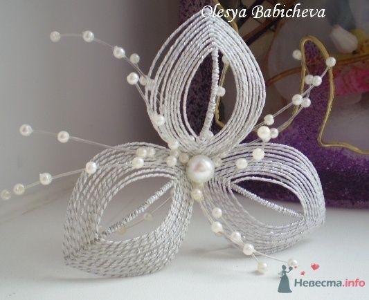 Свадебный цветок в причёску - фото 33246 Алисик