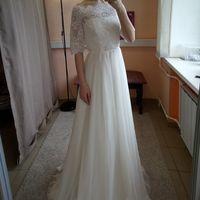 Свадебное платье: Камилла Платье + Болеро Ткань:  кружево , евросетка. Цвет: молоко Цена: 20500 Это платье на сайте: