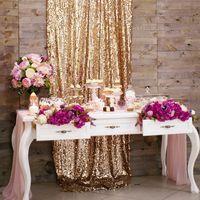 В аренду сдаётся: стол белый, ширма деревянная, ткань золотая, Цветы, посула для десертного стола