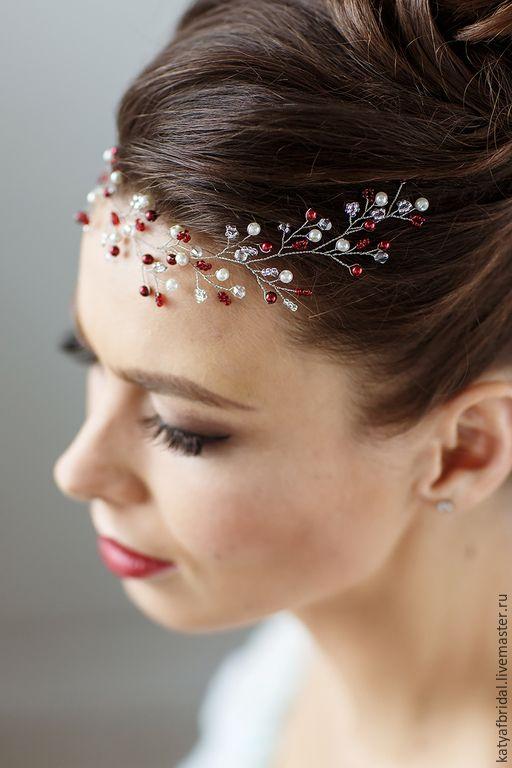 Украшения для волос на свадьбу мастер класс