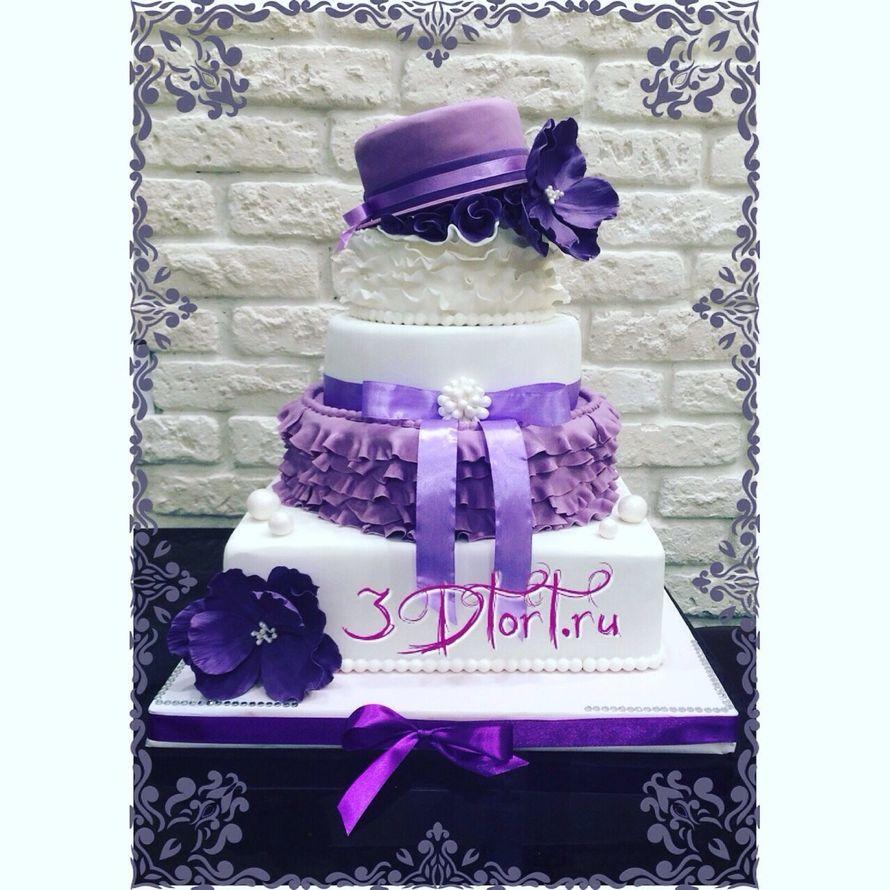 Фото 14338828 в коллекции Свадебные торты - Авторские торты от Анны Мочаловой