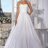 "Платье ""Love Story""  Цвет: white, ivory Размер: 40-60 Ткани: репс, жаккард"