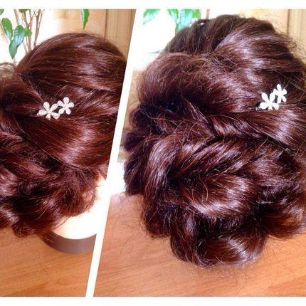 Причёска Скручивание жгута