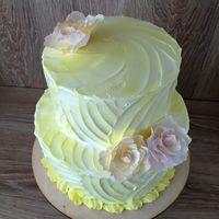 торт с вафельными цветами 1200р/кг