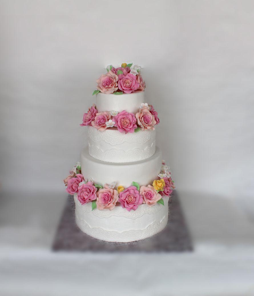 Фото 18441618 в коллекции Портфолио - Свадебные торты от Солодухиной Ольги