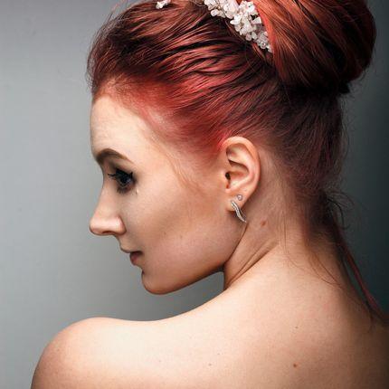 Свадебная причёска (волосы до плеч)