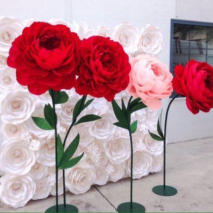 Общее оформление зала ростовыми цветами