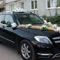 Комплект на главную машину с белыми цветами