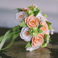 Букет с нежными розами