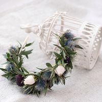 Веночек для невесты.  Стиль @sashastyle.ru  Фото: @thandra_kh  Платье: @siallow_dress@anastasia_siallow  Флористика и дизайн:@trostinka_tatiana