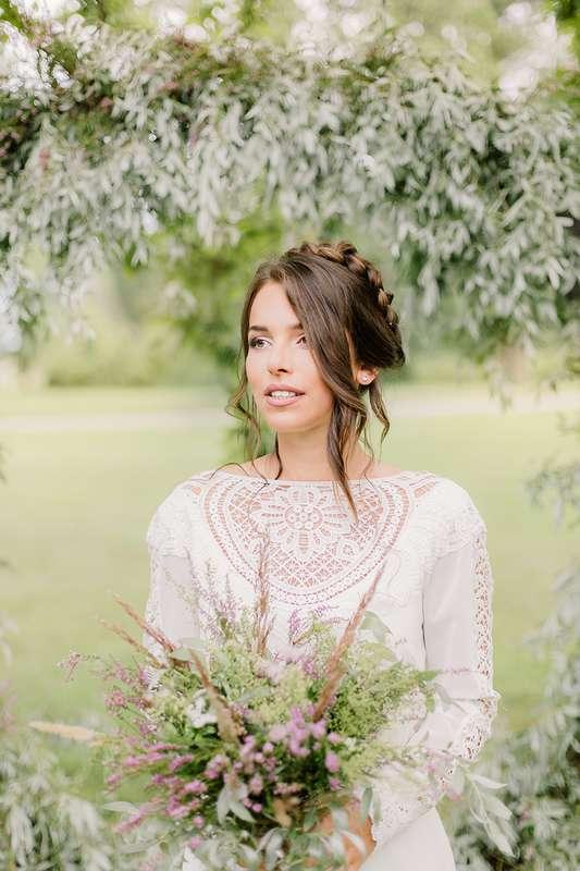 Платье Мерида цвет - молоко р-р 38-54 стоимость 33000 руб - фото 17642390 Свадебный салон Tavifa