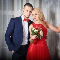 Олеся выбрала красное свадебное платье в нашем салоне! Фотограф: Анастасия Мороз Визажист: Наталья Панарина