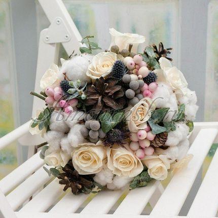 Букет невесты Зимняя свежесть