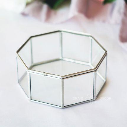 Восьмиугольная геометрическая шкатулка для колец