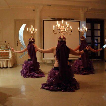 Восточный танец с канделябром (живой огонь)