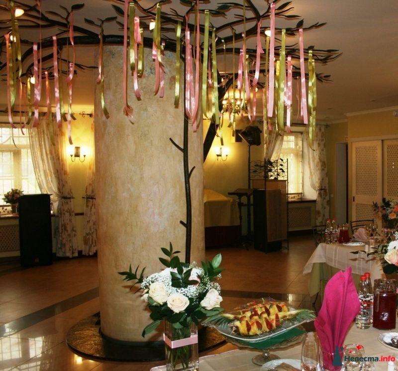 Украшение конструкции под потолком лентами. - фото 91720 Вашкетова Юлия - организатор свадеб, флорист.