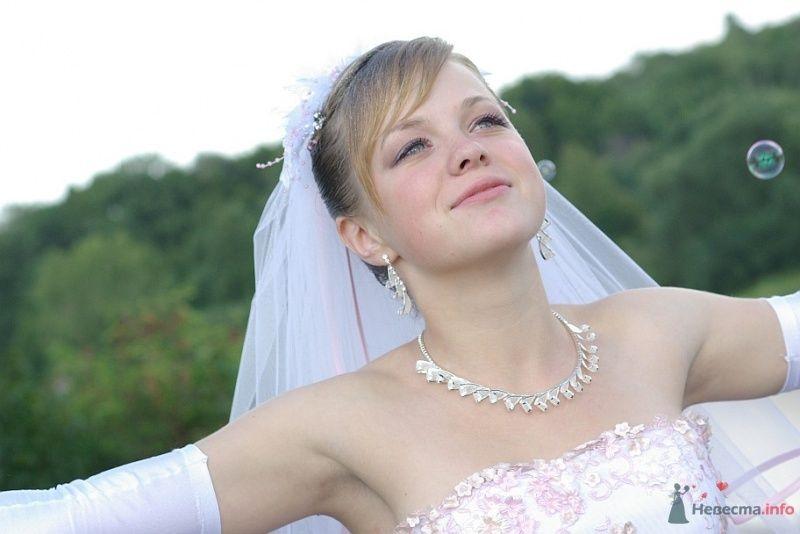 Свадебное серебряное колье принцесс и серебряные висячие серьги с - фото 35476 Lunik