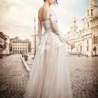 """Свадебное платье цвета нюд """"в пол"""""""