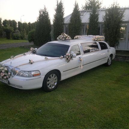 Прокат белого лимузина Lincoln с водителем, цена за 1 час