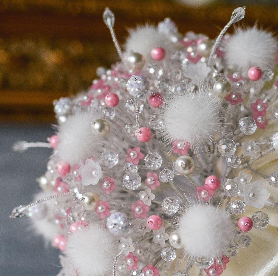 """Букет невесты из бусин """"Pink cloud"""""""