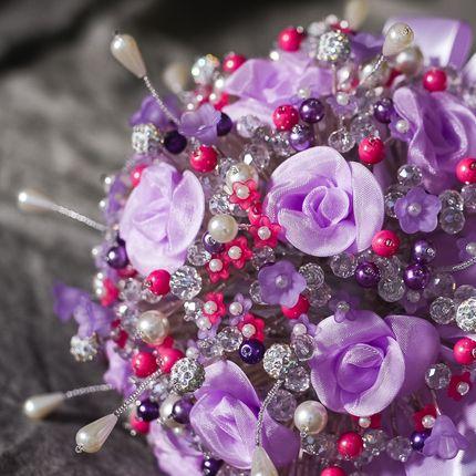 """Букет невесты из бусин """"Lavender"""""""