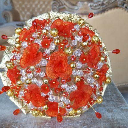 """Букет невесты из бусин """"Red"""""""