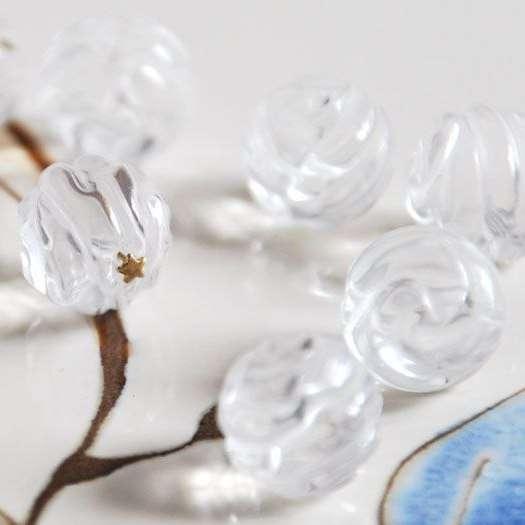 Горный хрусталь (разновидность кварца). Резные бутоны роз, ручная работа. 10 мм - фото 15295566 Magic crystal - ювелирный салон