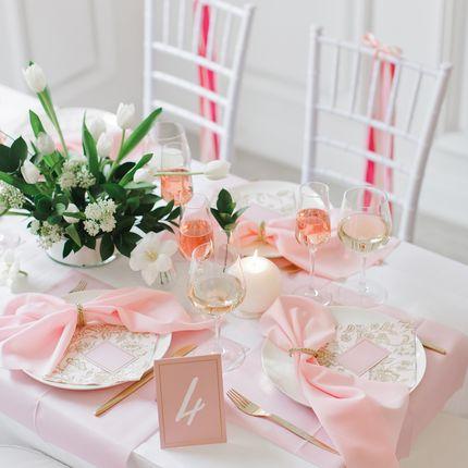 """Оформление столов на 8 гостей """"Gold rose"""""""