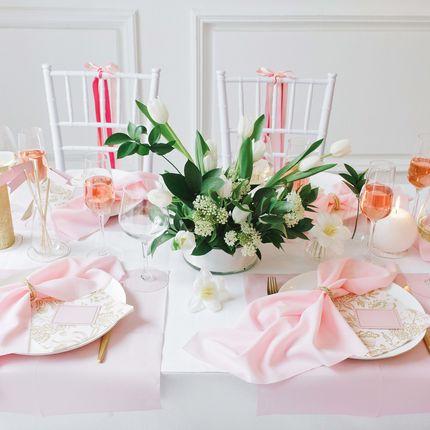 Набор декора стола на 8 гостей Gold Rose