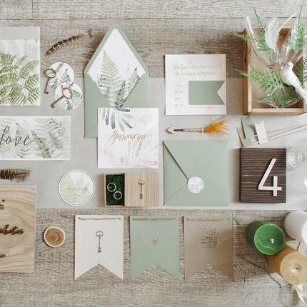 """Оформление столов - пакет на 32 гостя """"Botanical garden"""""""