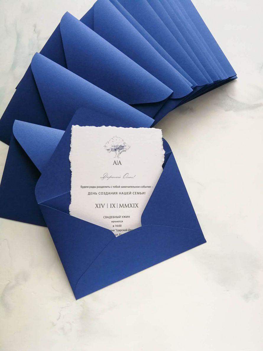 Комплект приглашений Wood Deep blue
