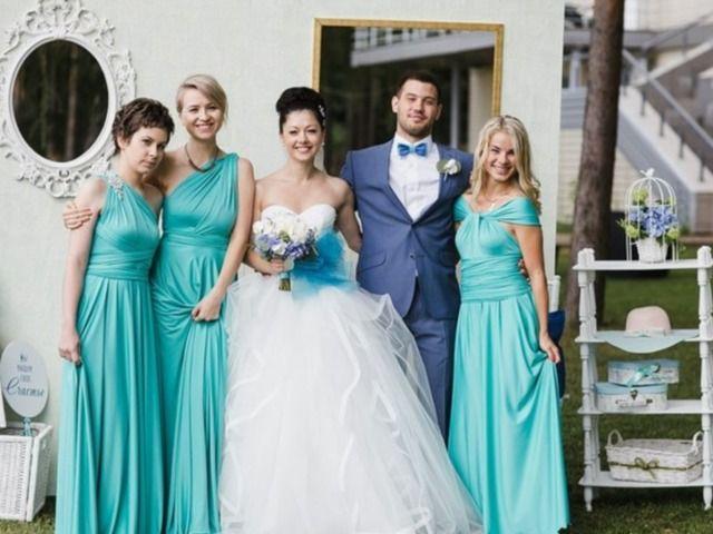 """Бирюзовые платья - фото 15805604 """"Dressforfriends"""" - салон проката платьев"""