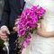 мой свадебный струящийся букет из орхидей цвета марганцовки!
