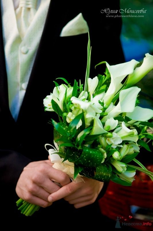 каллы на свадьбе, букет невесты