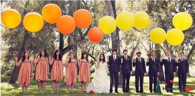 05 Жених и невеста, друзья жениха и невесты, и шары - фото 257512 Свадебный фотограф Моисеева Юлия