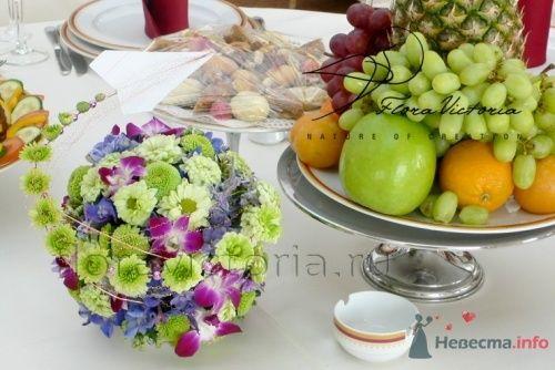 Композиция на стол гостей - фото 1362 Cвадебная флористика и декор событий FloraVictoria