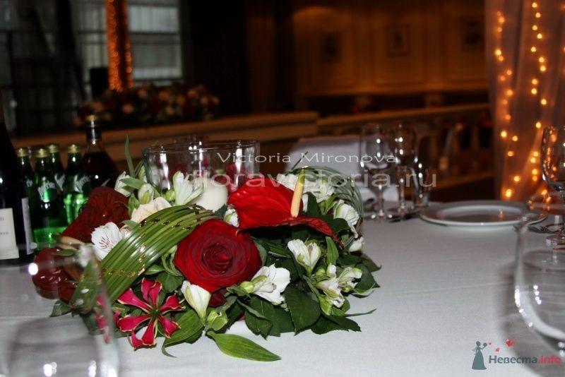 Оформление стола и зала - фото 29407 Cвадебная флористика и декор событий FloraVictoria
