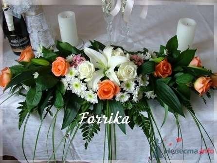 Композиция на стол молодоженов - фото 2854 Невеста01
